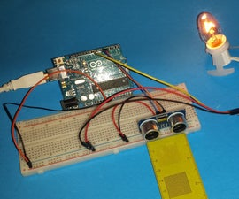 Motion activated light with Arduino and HC-SR04 sensor