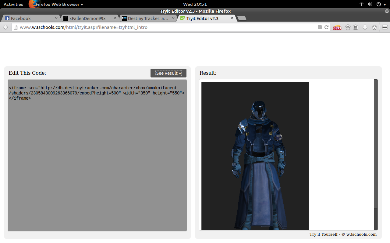Picture of Paste the Html Code Into a Website
