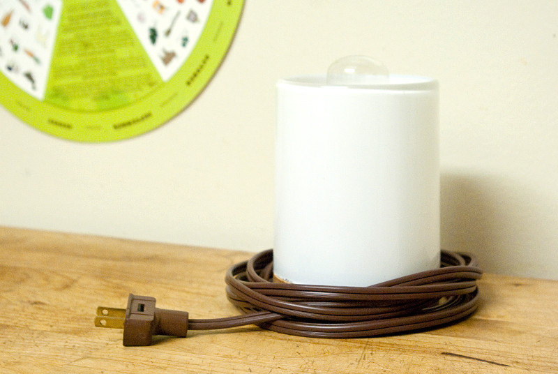 Picture of Glass and Wood Lamp