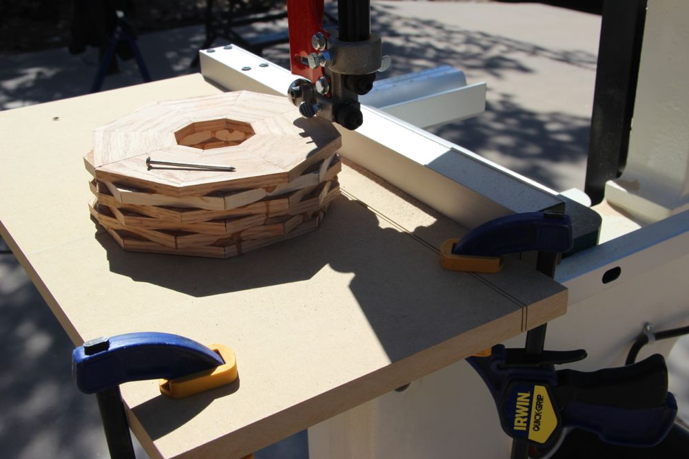 Picture of Cutting the Ring Walls for the Bowls