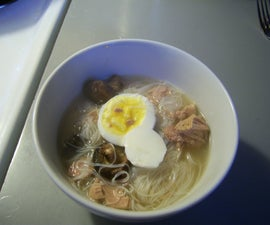 How to Make an asian inspired Noodle Soup for $2.50