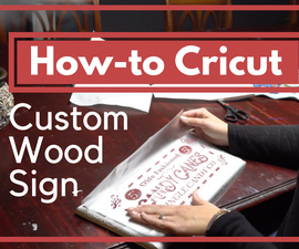How to Make a Wood Sign With a Cricut - Christmas Craft Tutorial