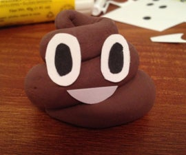 Happy Poop Emoji Made from Clay