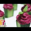 Beetroot Dip Stuffed Cucumbers - Cook n' Bake