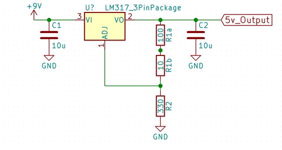 Elektrisch Circuit Voor De 5V Voeding
