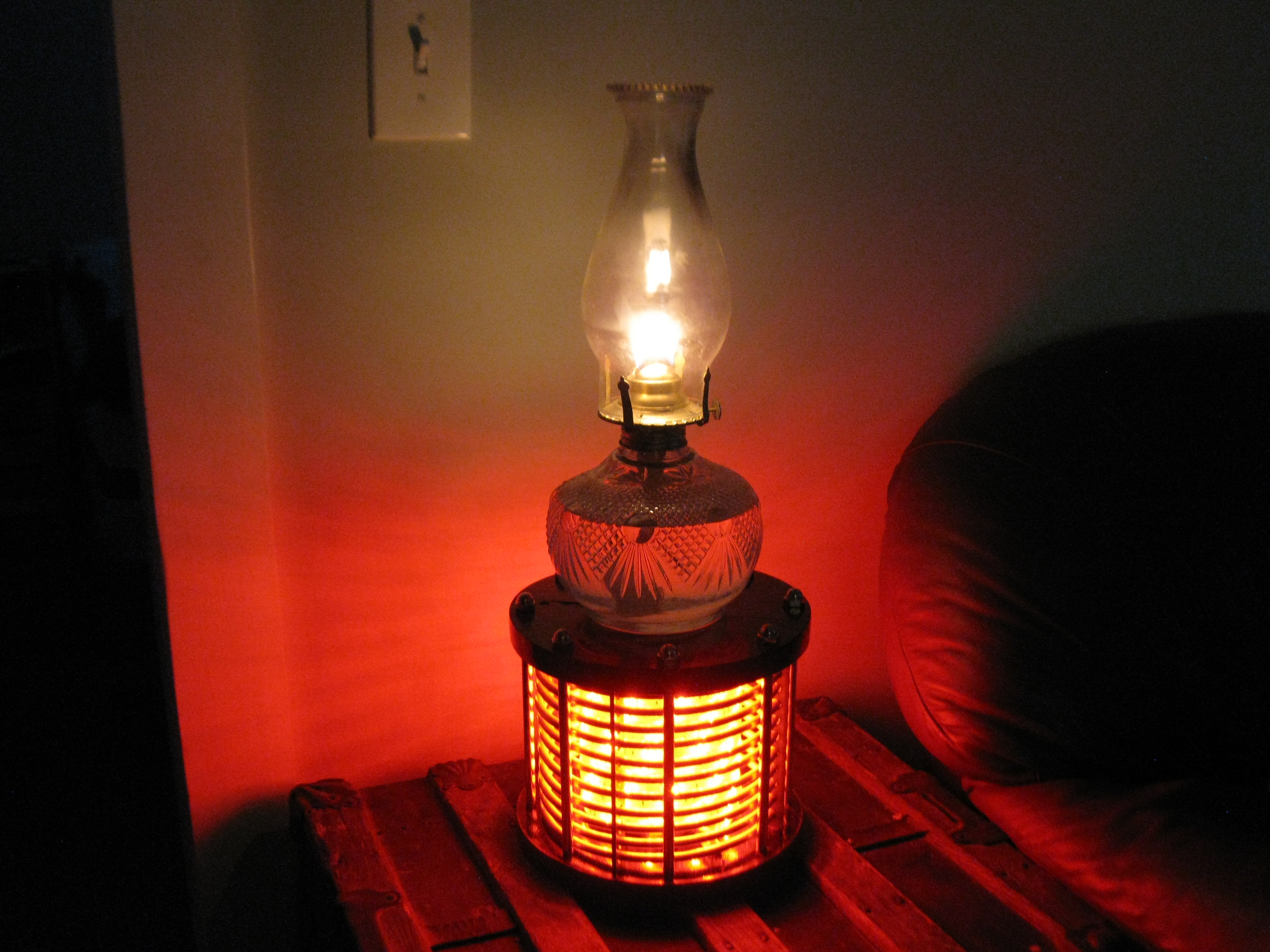 Picture of LED Oil Lamp Pedestal... Lamp
