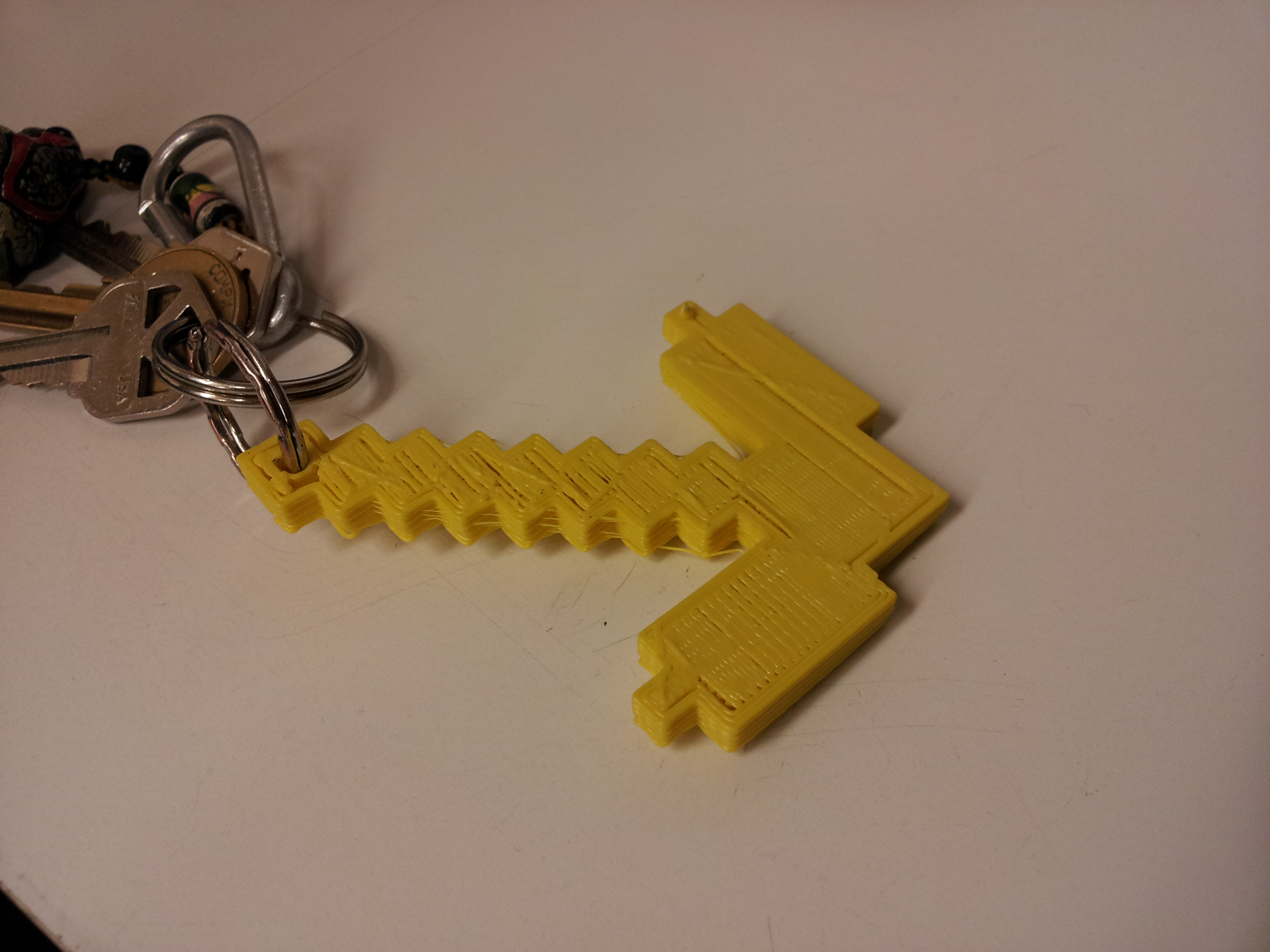 Picture of Basic Minecraft Pickaxe Keychain