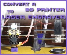 Convert a 3D PRINTER to LASER ENGRAVER | Under 40$