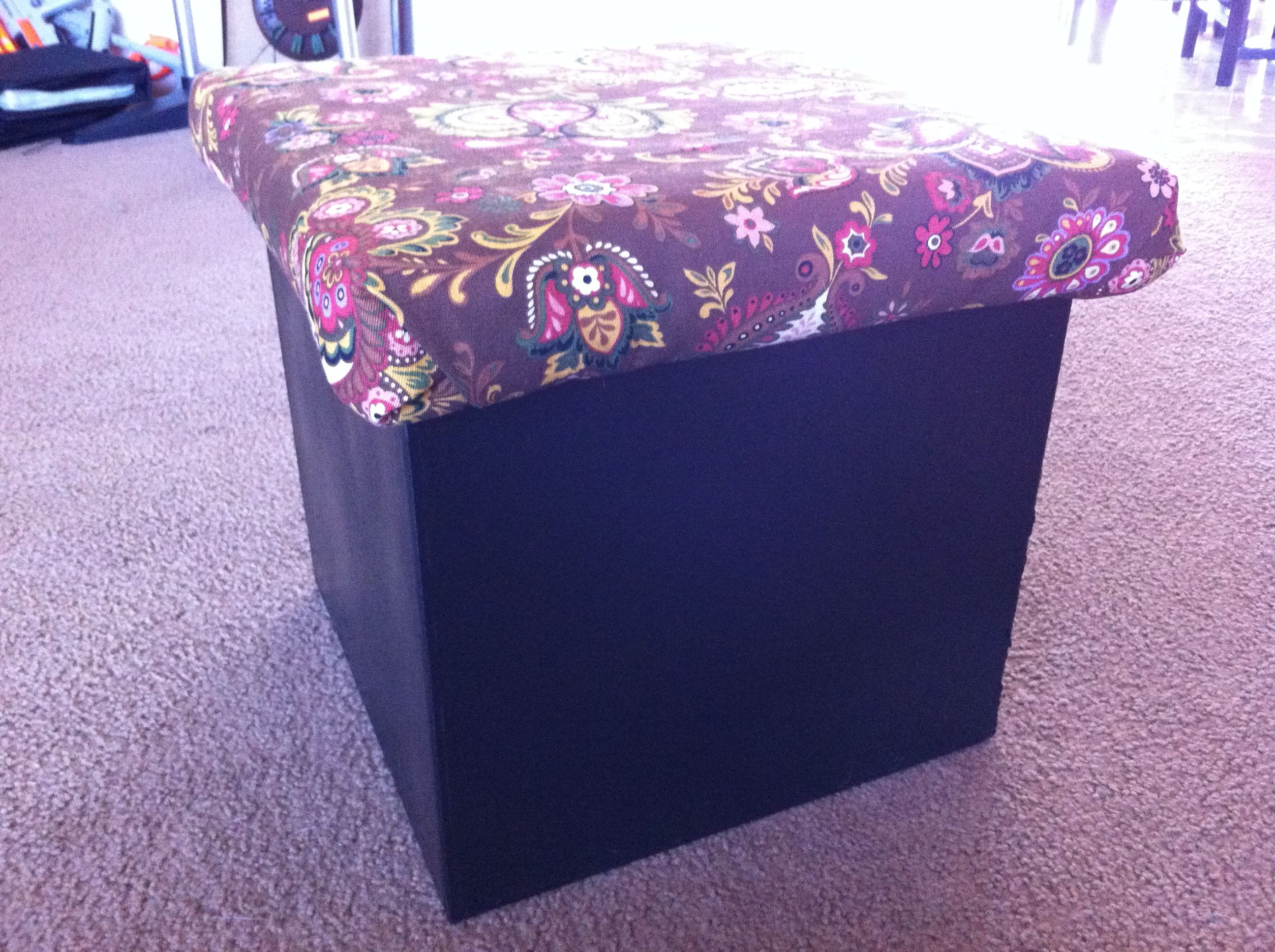 Picture of Cardboard Storage Cube Ottoman