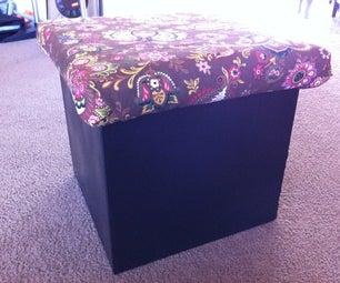 Cardboard Storage Cube Ottoman