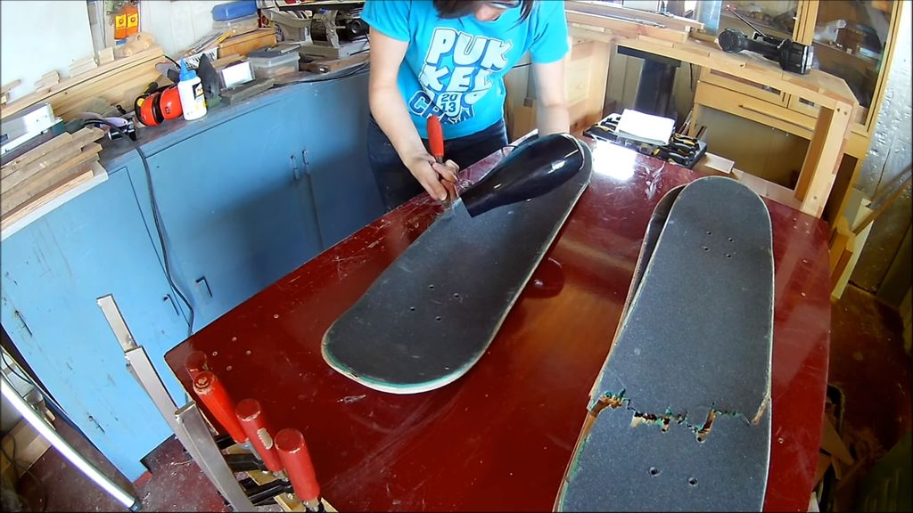 Picture of Preparing the Skateboards