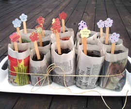 How to make organic planting pots using old newspapers