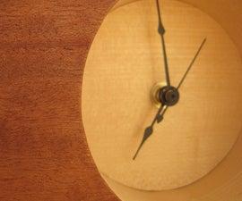 Retro Style Wood Veneered Table Clock