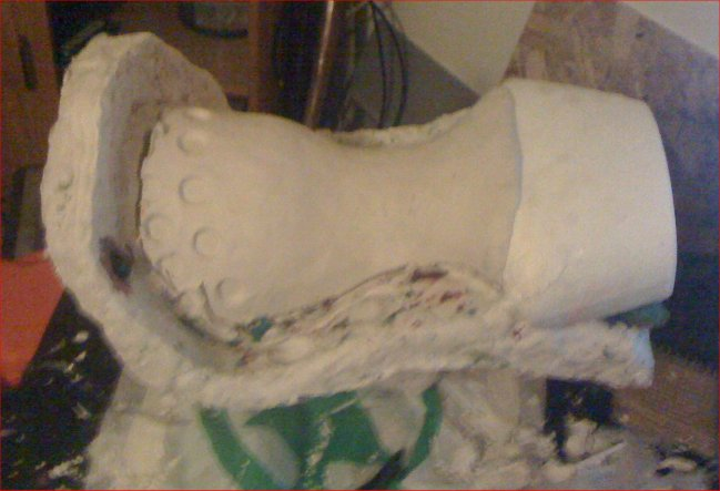 Picture of Preparing for Stage 2 of the Plaster