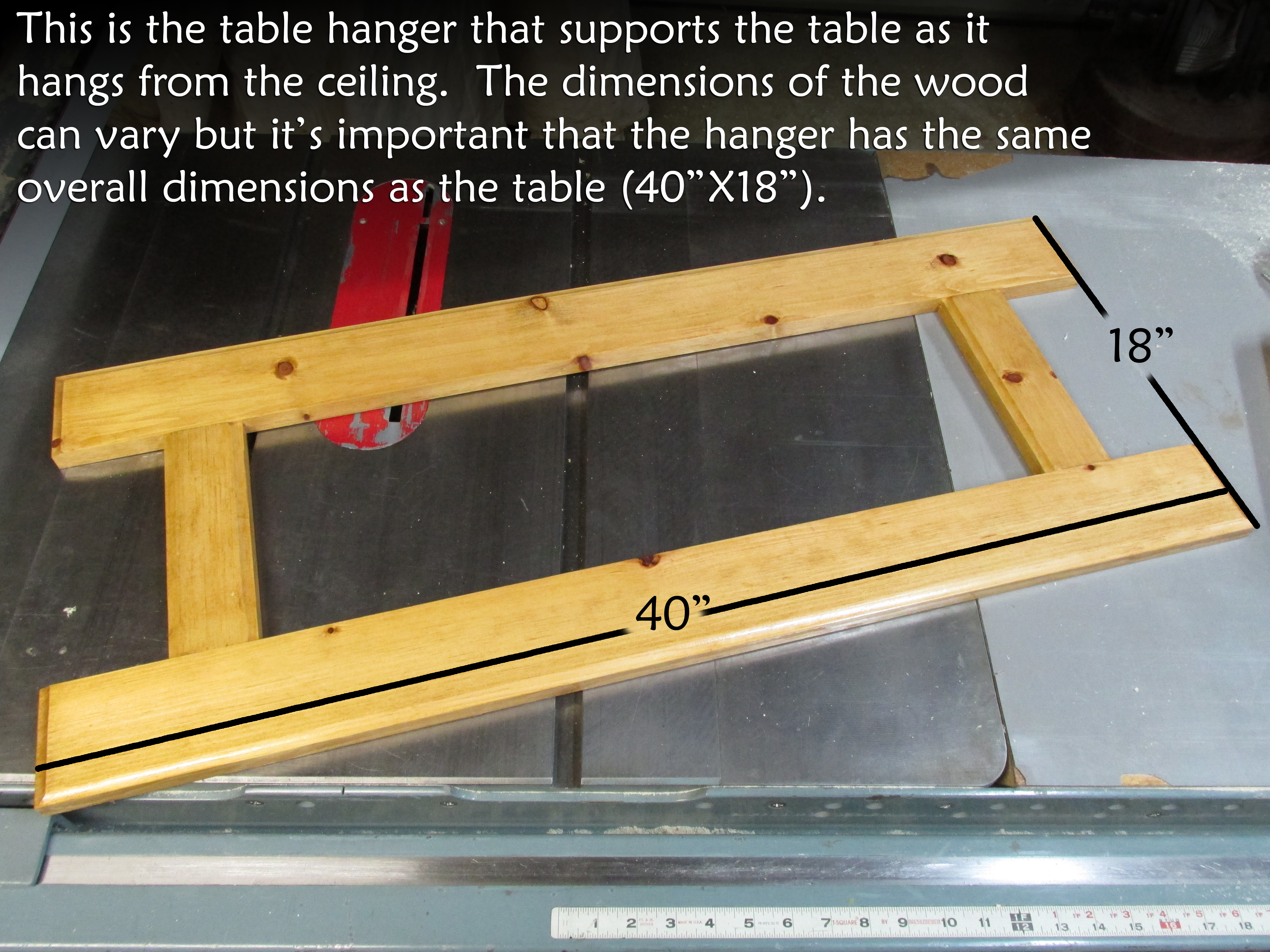 Picture of Making the Table Hanger
