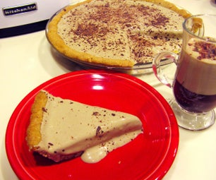Coffee Mocha Custard Pie