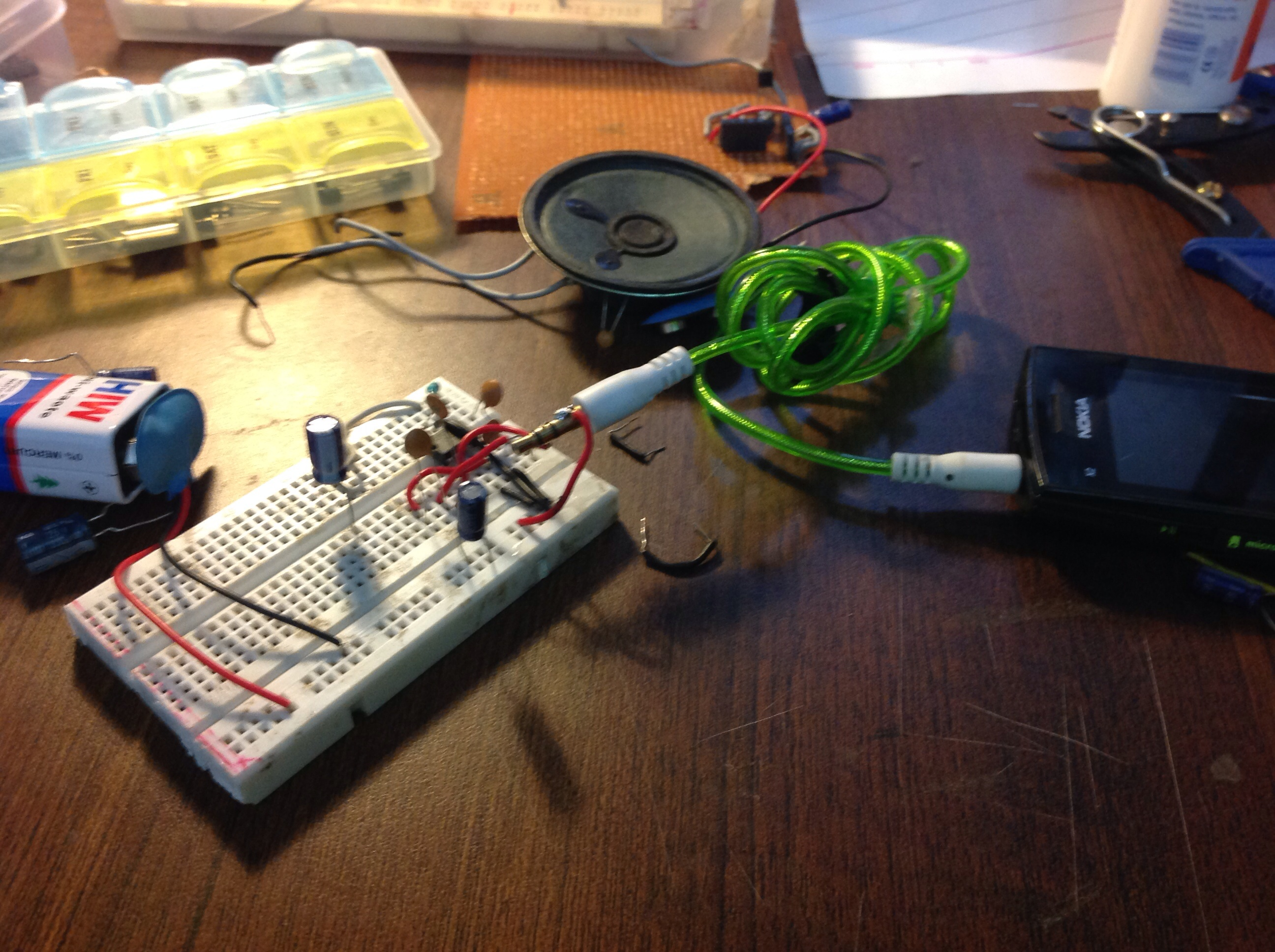 Picture of Putting the Circuit Together...