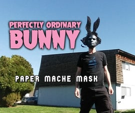 Perfectly Ordinary Bunny (Paper Mache Mask)