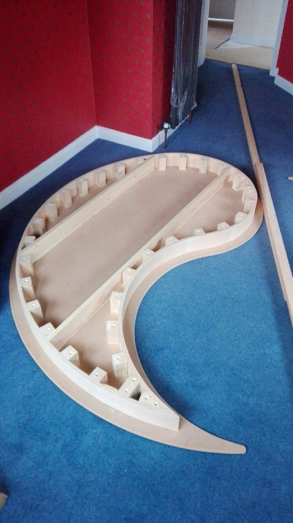 Picture of Making the Supports for the Ying Yang