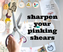 sharpen your pinking shears with aluminum foil