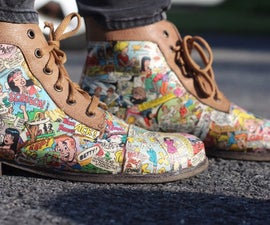 How to Make Comic Book Shoes