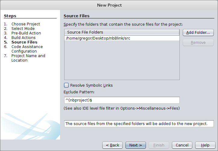 Picture of Importing the Project Into Netbeans