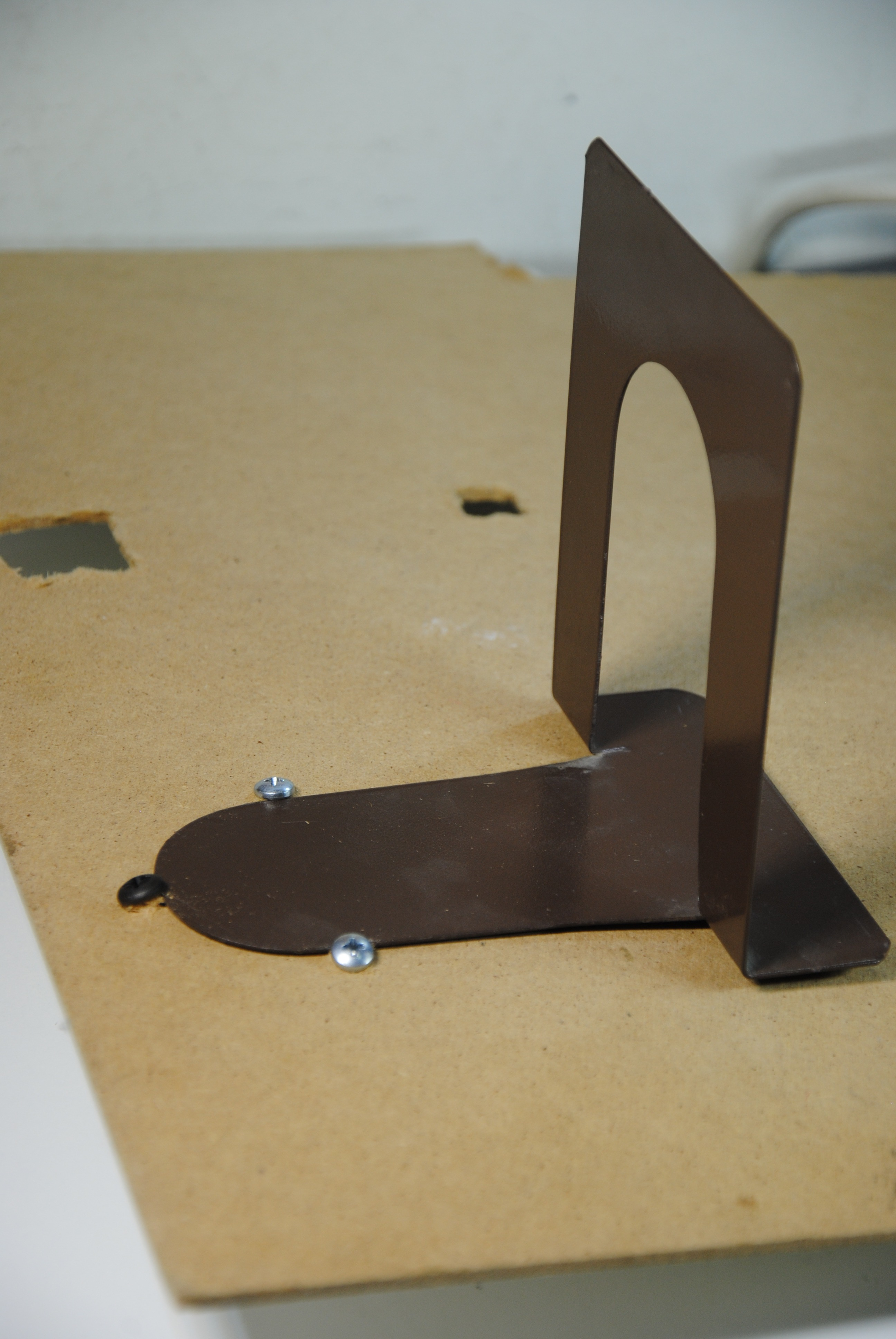 Picture of Metal Book Dividers for Shelves - Hand-Plane Holders!