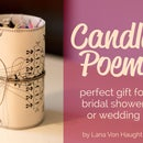 Perfect Gift for Wedding or Bridal Shower - Candle Poem & Candles