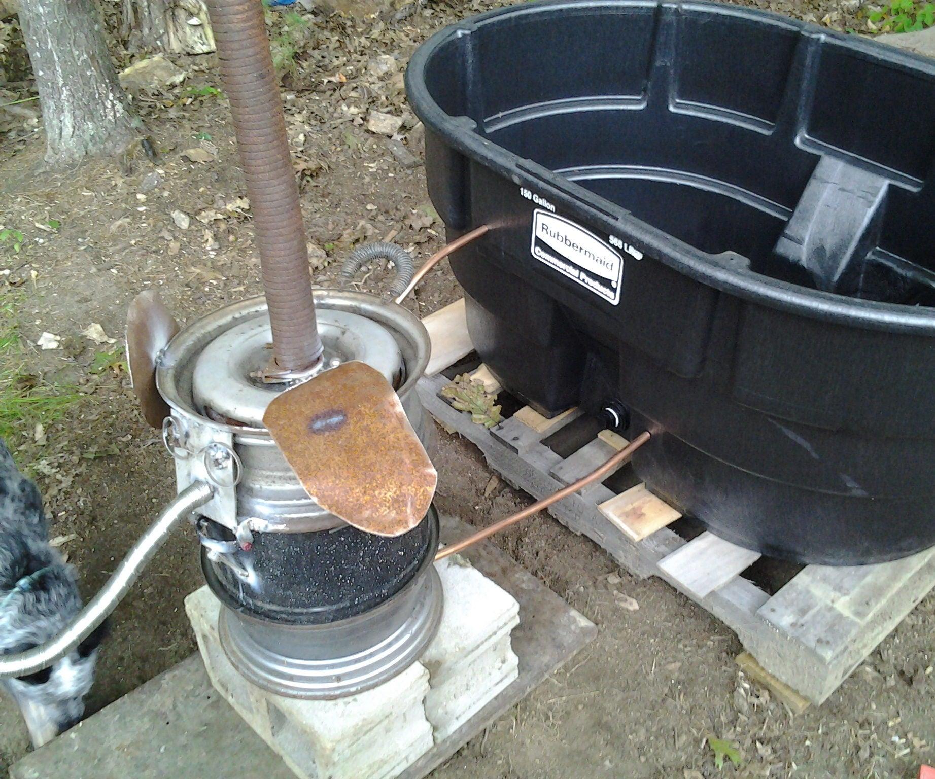Homesteader Wood Fired Hot Tub 5 Steps