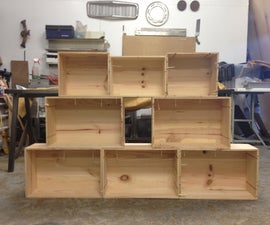 Easy Shelves from Old Wooden Crates