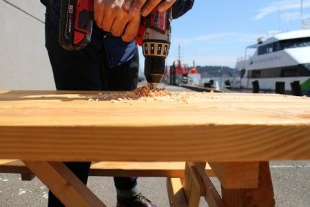 Finger Hole for Center Plank
