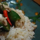 Tangy chicken jalapeno poppers over creamy rice