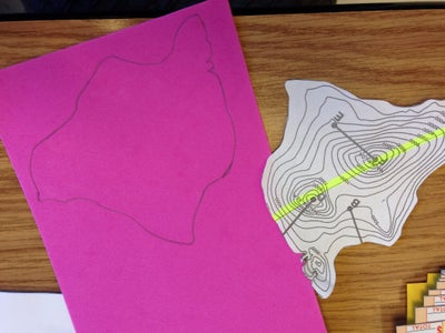 Step 3 - Cut Out and Trace the First Elevation Layer!