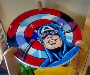 Cool Marvel Heroes Painted Kids Table