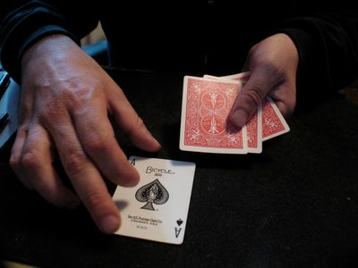Show the Only Cards As Being Ace Through Four of Spades