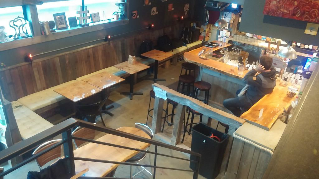 """Picture of My Reclaimed Materials Bar """"The Treehouse Lounge"""""""