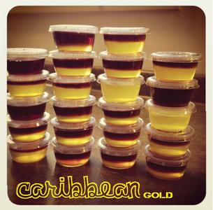 Layered Jello Shots - Caribbean Gold