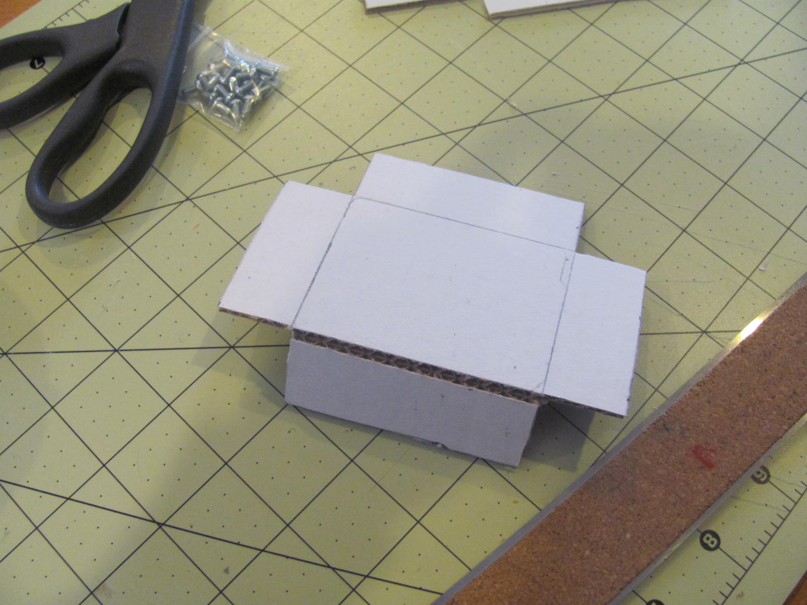 Picture of Score the Box Edges.