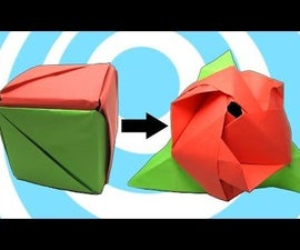 Transforming Magic Cube into Paper Rose