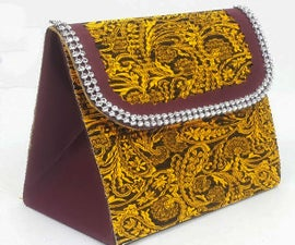 How to Make Paper Purse Using Waste Tea Box?