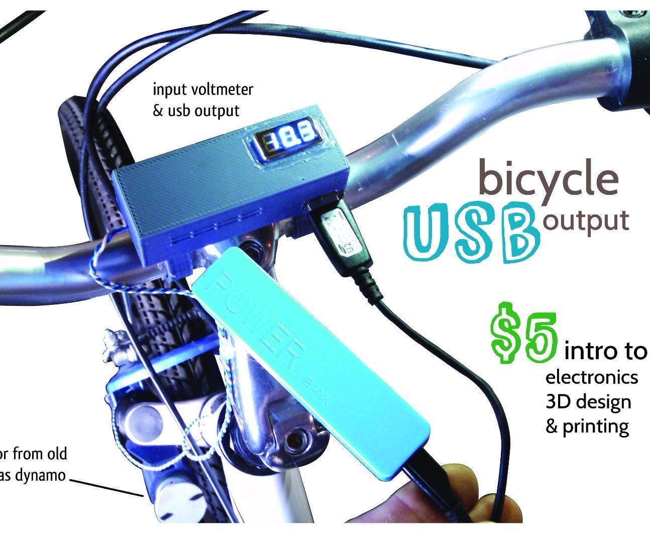 Bicycle Usb Output 3 Steps With Pictures Voltmeter Charger Motor