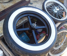 Making Wide Bike Wheel Hubs and Joining Them to Car Rims!