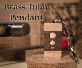 Easy Brass Inlay Wooden Pendant Gift