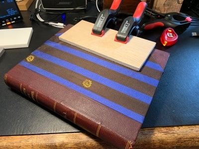 Sticking the Fabric to the Book
