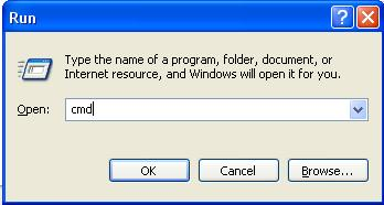 Picture of Opening Command Prompt