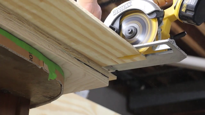 Picture of Cutting, Installing the Plywood