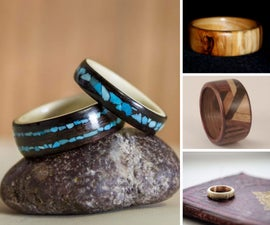 12 Handsome Bent Wood Rings