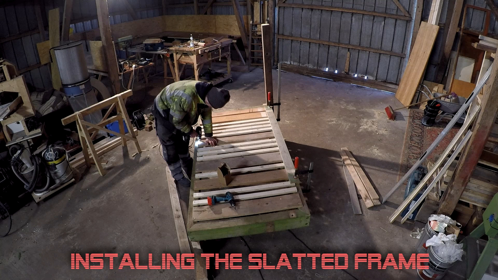Picture of Install the Slatted Frame