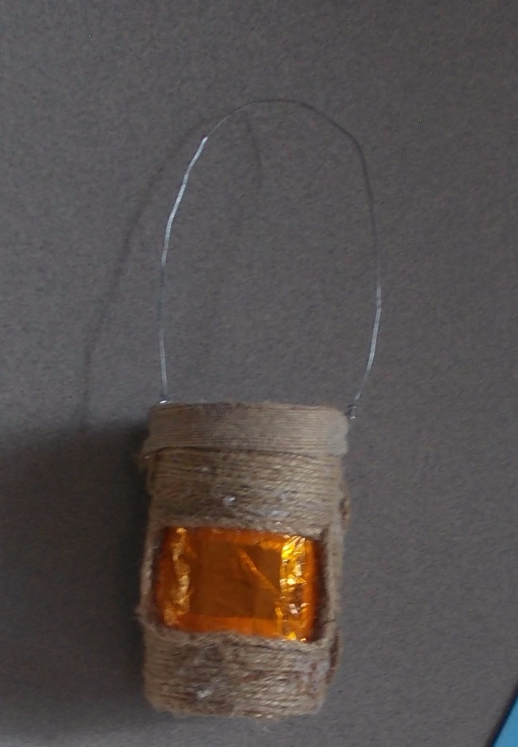 Picture of After Glueing the Hemp String Around.