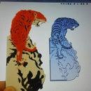 Tiger Painting 3d Printed